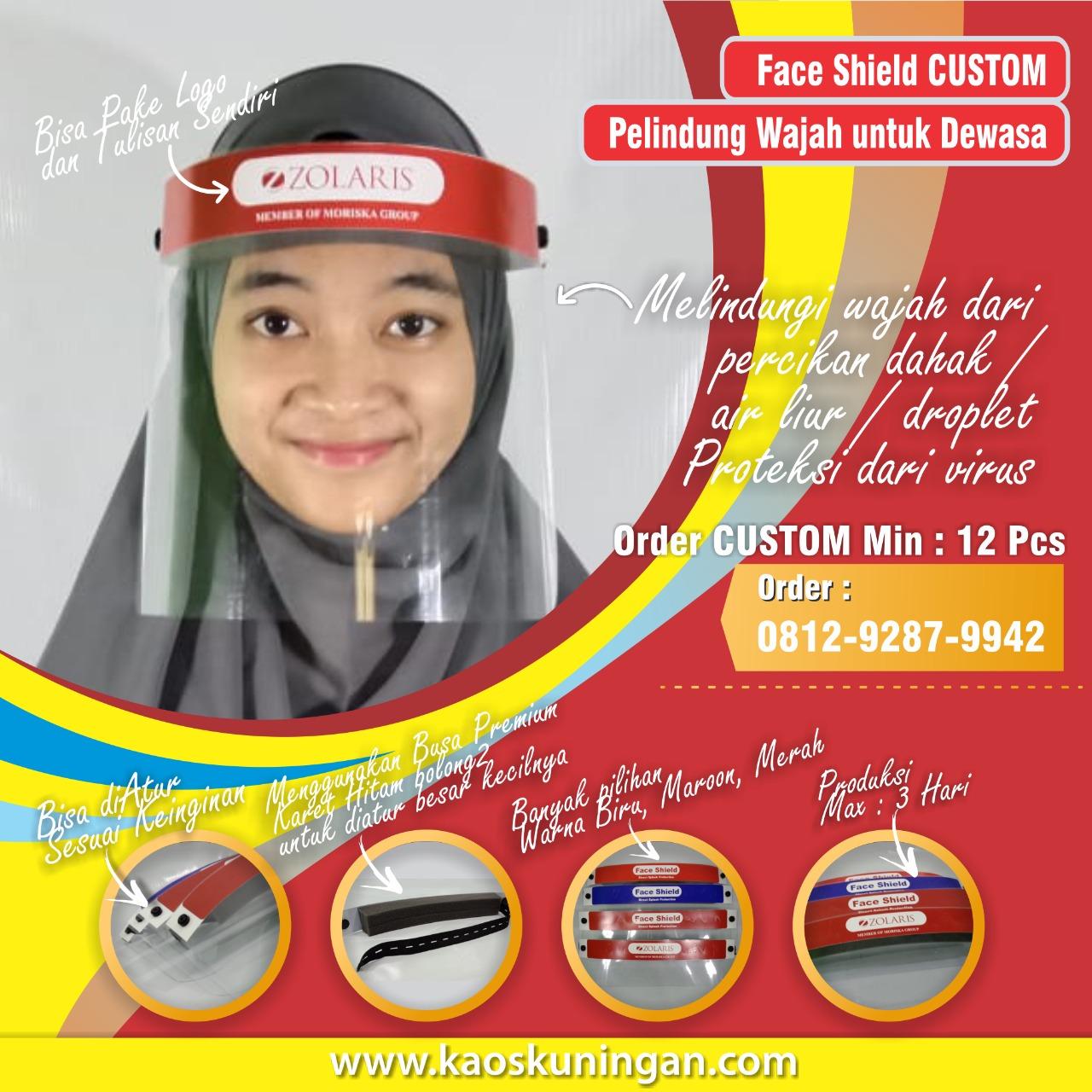 Jual Face shield Termurah di Kuningan Jawa Barat WA 081221309937