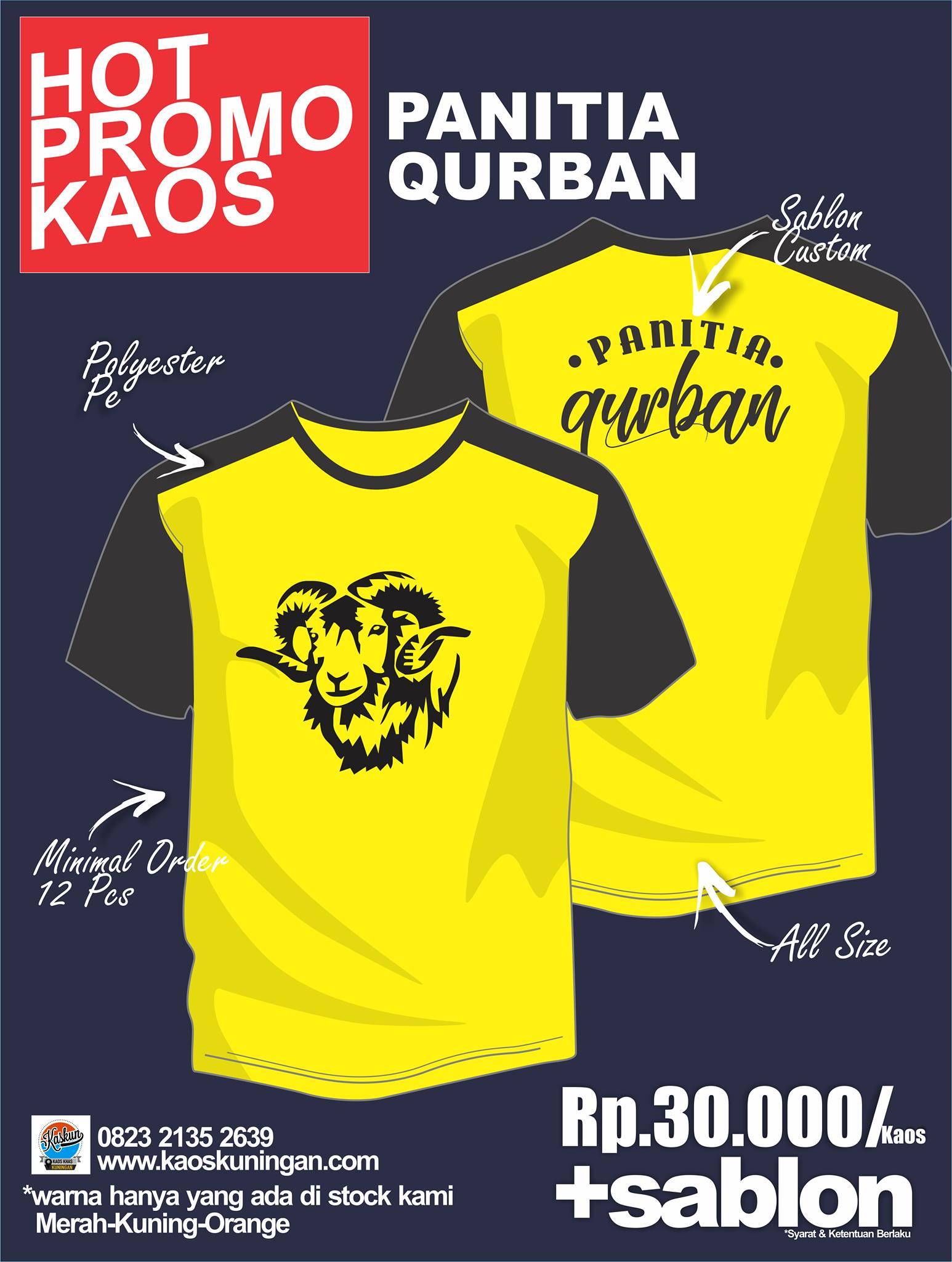 Promo Kaus Qurban 1441 H WA 082321352639